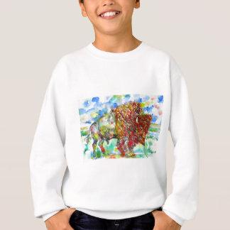 watercolor BISON .1 Sweatshirt
