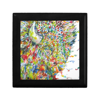 watercolor BISON .2 Gift Box
