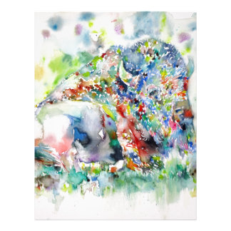 watercolor BISON .3 Letterhead