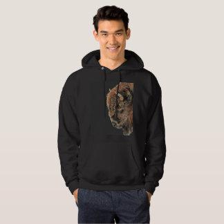 Watercolor Bison Buffalo Wildlife Animal Art Hoodie