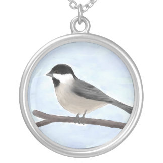 Watercolor Black-capped Chickadee Necklace