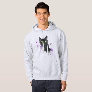 Watercolor Black Cat - Ash Sweatshirt