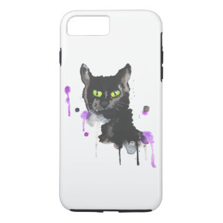 Watercolor Black Cat - iPhone 8Plus/7 Plus Case