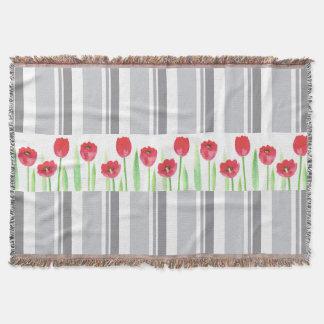 Watercolor blanket tulips blanket