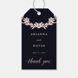 Watercolor Bliss   Blush Pink Floral Wreath Gift Tags