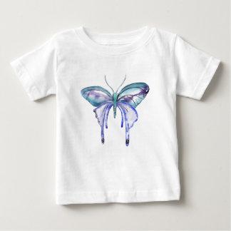 Watercolor blue Aqua Purple butterfly Baby T-Shirt