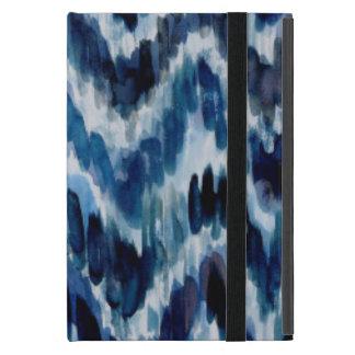 Watercolor Blue Chevron Ikat Case For iPad Mini