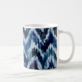 Watercolor Blue Chevron Ikat Coffee Mug