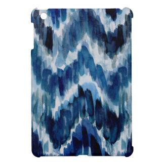 Watercolor Blue Chevron Ikat Cover For The iPad Mini