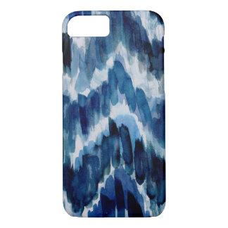 Watercolor Blue Chevron Ikat iPhone 8/7 Case