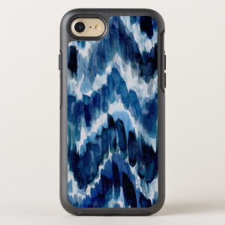 Watercolor Blue Chevron Ikat OtterBox Symmetry iPhone 8/7 Case