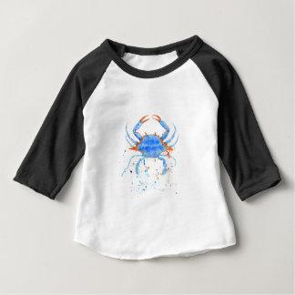 Watercolor blue crab paint splatter baby T-Shirt