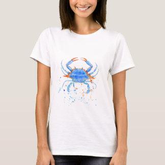 Watercolor blue crab paint splatter T-Shirt