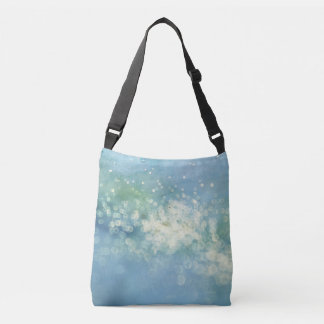 Watercolor Blue Fantasy Lights Crossbody Bag