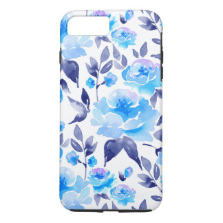 Watercolor blue flowers 2 iPhone 8 plus/7 plus case