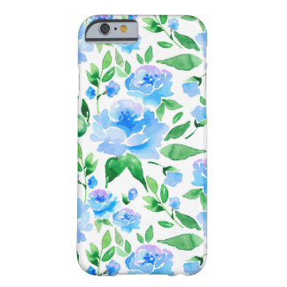 Watercolor blue flowers barely there iPhone 6 case