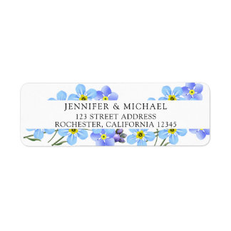 Watercolor blue forget me not floral return