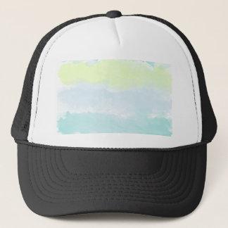 Watercolor Blue Green Azur Boy Trucker Hat