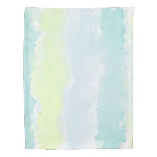 Watercolor Blue Green Azur Twin Size Duvet Cover