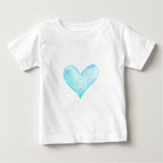 Watercolor blue heart baby T-Shirt