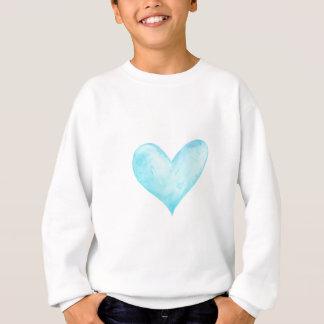 Watercolor blue heart sweatshirt