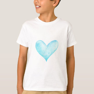 Watercolor blue heart T-Shirt