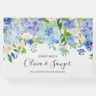 Watercolor Blue Hydrangeas Wedding Guest Book