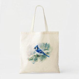 Watercolor Blue Jay Budget Tote Bag