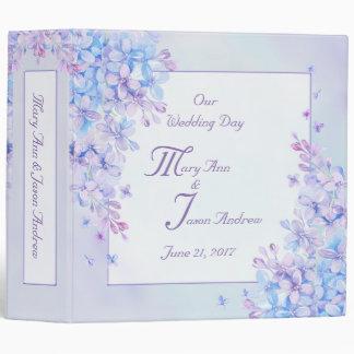"Watercolor Blue Purple Lilac Flower 2"" Binder"