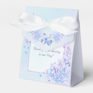 Watercolor Blue Purple Lilac Flower Favour Box Party Favor Boxes