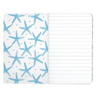 Watercolor Blue Sea Stars Pattern Journal
