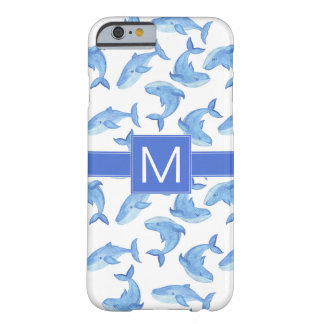 Watercolor Blue Whale Pattern Barely There iPhone 6 Case