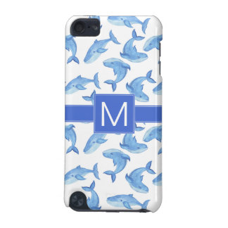 Watercolor Blue Whale Pattern iPod Touch 5G Cover