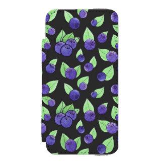 Watercolor Blueberry Case Incipio Watson™ iPhone 5 Wallet Case