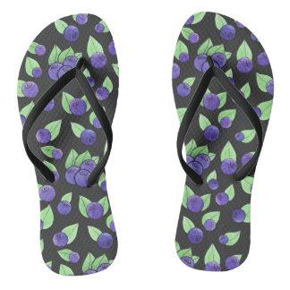 Watercolor Blueberry Flip-Flops Flip Flops