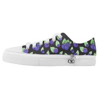 Watercolor Blueberry Low Top Shoes