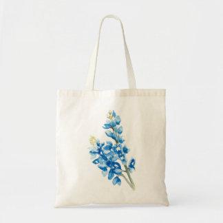Watercolor Bluebonnet Tote Bag
