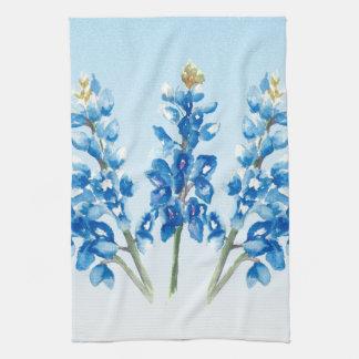 Watercolor Bluebonnets Kitchen Towel