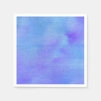 Watercolor Blues & Purples - All Options Disposable Napkin