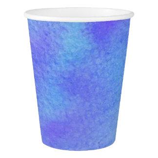 Watercolor Blues & Purples Paper Cup