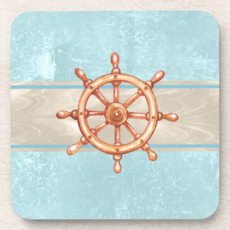 Watercolor Boat Helm Wheel ID385 Coaster