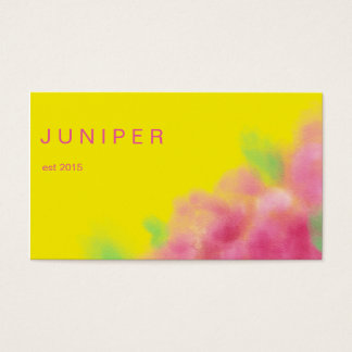 Watercolor Bold modern Yellow and pink Design Business Card