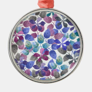 watercolor Botanical garden IV Silver-Colored Round Ornament