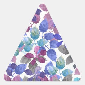 watercolor Botanical garden IV Triangle Sticker