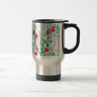 watercolor Botanical garden VI Travel Mug
