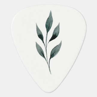 Watercolor Botanical Sprig Guitar Pick