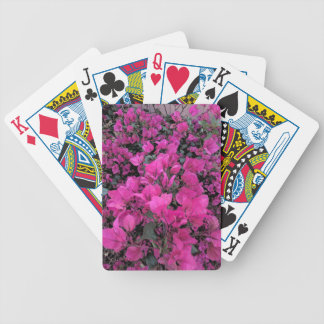 Watercolor-Bougainvillea Bicycle Playing Cards