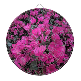 Watercolor-Bougainvillea Dartboard With Darts