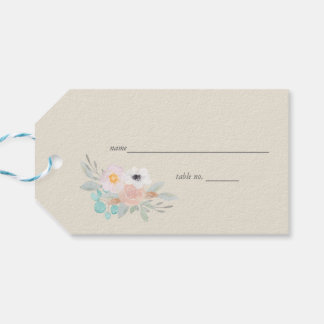 Watercolor Bouquet Gift Tag Place Card