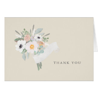 Watercolor Bouquet Thank You Note Card